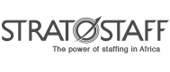 Stratostaff Black & White Logo