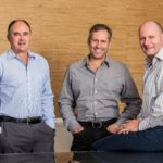 Gelvenor Chief Executive, Dicky Coetzee, Jacobs Capital director Leon Raubenheimer & Jacobs Capital CEO Wessel Jacobs (med res)